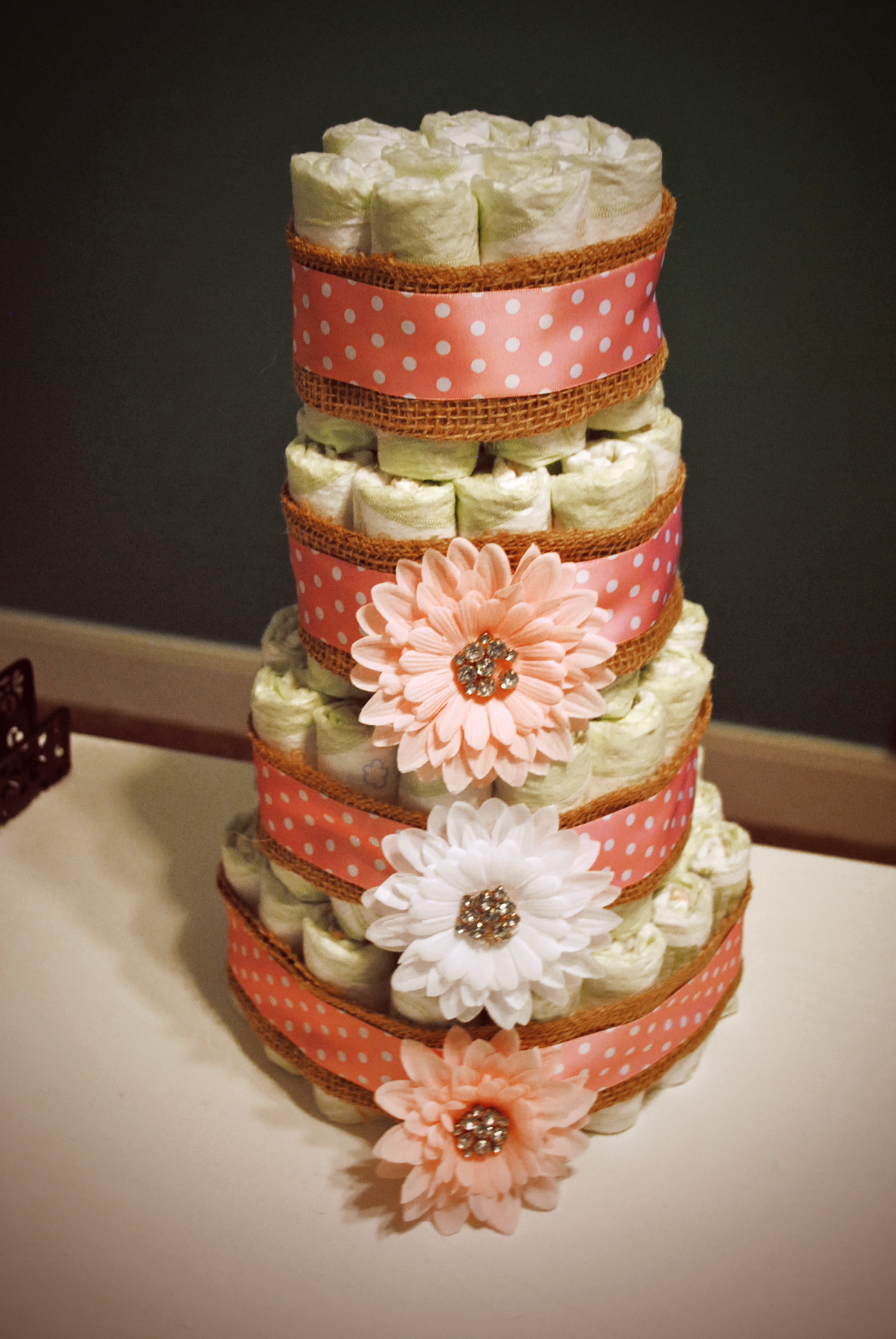 How to Make a Diaper Cake – Change Is Beckoning
